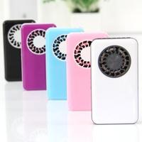Free shipping mini fan handheld recharge small fan box