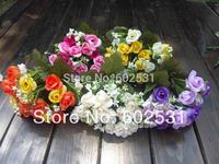 2pcs/lot Mini bead light rose bud Bouquet Silk Roses bride holding rose flower Wedding Bouquet Artificial Flowers free shipping