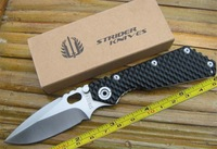 FAST FREE SHIPPING  Carving CNC G10 Handle Strider SMF SNG Folding Pocket Knife STS44