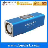 Newest Stereo Music Mini Speaker JH-MAUK5 + TF card + FM radio + LCD screen+Free Shipping