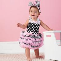 Summer tutu dress for girls new 2014 europe style ballet dress lace sleeveless bowtie dot baby party dress  princess