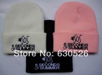 Free shipping 2014 spring unisex cheap beanies caps 5 seconds of summer Beanies 5SOS  caps adjustable baseball  snapbackusa caps