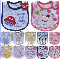 2014 Hot Sale Cotton Baby Bib 5pcs Infant Saliva Towels Baby Waterproof Bib Cartoon Baby Wear With Different Model free shipping