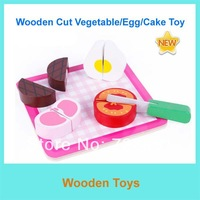 Free Shipping Educational Toys Wooden Cutting Fruits/ Cake/Vegetable Toys AM144-1 Kitchen Toys/Wooden Toys