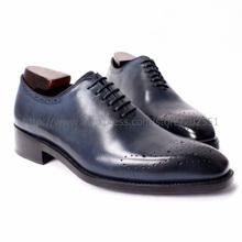 Livraison gratuite main hommes laçage en gros chaussures coupe couleur bleu marine Goodyear artisanat Oxford pas. Ox291(China (Mainland))
