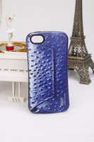 New arrival!!! High quality Iface  ostrich skin texture mobile phone protection shell case for iphone5/5s free shipping