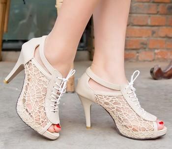 Enmayer новый 2014 женщин туфли на высоком каблуке сексуальные женские красные единственные ...