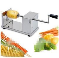 Free Shipping Stainless steel potato tower slicing machine potato chips machine slicing machine potato spiral cutting machine