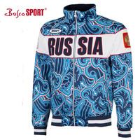 russia sochi 2014 winter olympic bosco fashion sport sweatshirt  jacket women national BLUE coat sweater sportswear tracksuits
