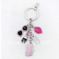Counters with ms creative car key chain Men's key ring bought sunglasses lipstick