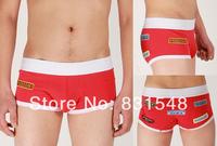 High Quality Free Shipping  cotton  pure color   men's boxer  shorts   men's underwear