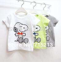 Free Shipping New 1pc Boy Children's summer Cartoon Snoo--Py T-shirt cotton t-shirt for boys/girls t shirt HOT tops tees 5 sizes