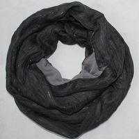 Free shipping new Europe  fashion style spring autumn winter neckerchief scarf Ring black grey scarves shawl fashion men women