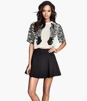 Sexy Sheer zebra striped short sleeve women chiffon shirts fashion print crop tops plus size blouse blusa camis new arrival 074