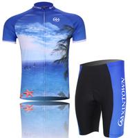 2014 New Hot Fashion men's sportswear cycling bicycle bike clothing jersey  short sleeve jerseys +(bid) shorts Wholesale CJ006