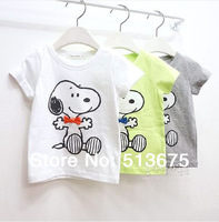 Free Shipping New 1pc Boy Children's summer Snoop-y T-shirt cotton t-shirt for boys/girls t shirt HOT tops tees 5 sizes