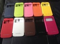 wholesale HK post fashion New Slim S-VIEW Flip Smart Case Battery Cover For Samsung GALAXY S4 Mini I9190