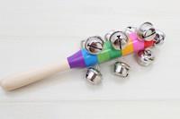 Baby hand rattles bell handbell musical instrument toy