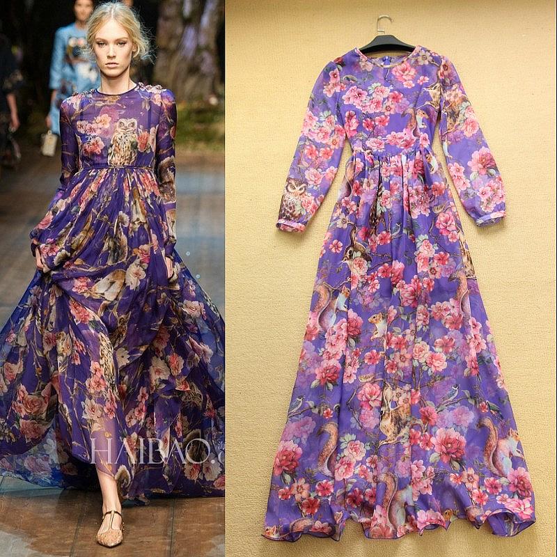 Платье в пол дольче габбана