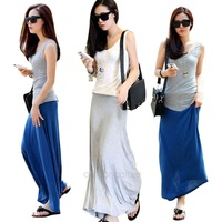 2014 New Arrival Fashion summer skirts womens long skirt female A-line Dress Free Shipping E2604 X-20