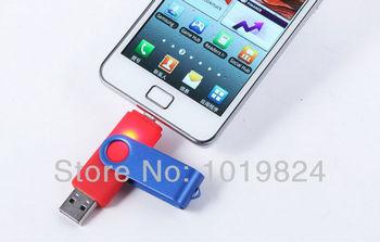 100% real capacity swivel OTG micro usbSmart Phone USB Flash Drives thumb pendrive ...