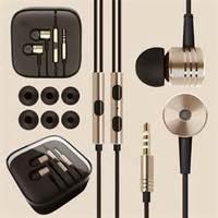 2014 Fashion Gold mental Piston earphones headphone Headset with Remote & Mic for xiaomi MI2 MI2S MI2A hongmi Redmi MI3 Phones