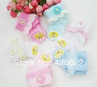Girl summer flowers bud silk lace socks thin baby socks 0-2 age 2pc/lot