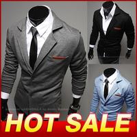 High Quality Hot Sale 2014 Men's Clothing Business Blazers Outerwear Suit Casual Fashion Suits For Men Slim Fit Blazerr X352
