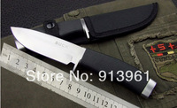 High Quality Knives Camping Military 1PCS OEM BUCK 768 Hunting Knives Cold Steel Knives Silver blade Free shipping
