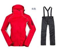 Wholesale women's ski jacket + pants winter outdoor sports jacket waterproof windproof mountaineering jacket free shipping