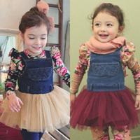 2014 spring gauze girls clothing baby child tank dress one-piece dress free shipping