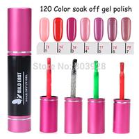 2014 Hot sale big deal 120color 10PCS Nail Art 10ml Soak Off Gel Polish kit UV nail gel polish set dropshipping