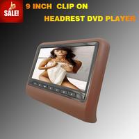 9 inch HD LED digital screen 800X480 Car Headrest Monitor with slot in DVD, IR,FM,USB,SD, Wireless game