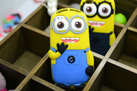Designer 3D Cute Cartoon Despicable Me Minion Soft Silicone Back Universal Cases Cover For iphone 5C