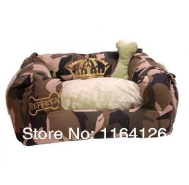 Elizabeth crown Leopard grain pet house dog cat sofa small dog bed camouflage sofa(China (Mainland))