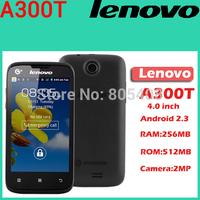 Original Lenovo A300T 4 inch TFT Single SIM phone Android 2.3 WIFI 2.0MP camera Rom 512MB