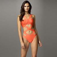 High Quality Sexy Orange Bodycon Bandage Bikini 2014 New Arrival Beachwear Swimsuit Bathing Suit Bodysuit
