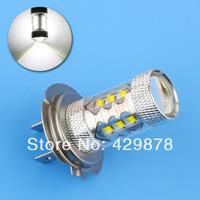 H7 80W Cree LED White cars Fog Head lights Bulb auto Lamp Vehicles Signal Tail parking car light source free shipping
