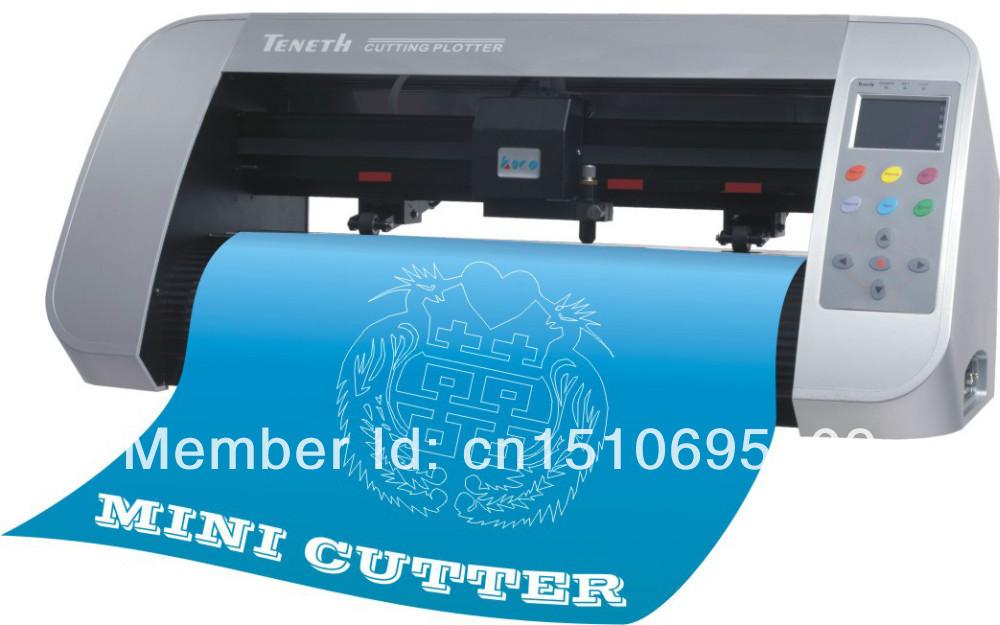 TENETH high precision ARM CPU mini cutting plotter viny cutter TH330L with contour cut , Corel draw output(China (Mainland))