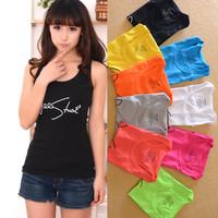 Wholesale 5pcs/lot  All-Match Cotton Vest For Women Spaghetti Strap Women's Vest Summer Candy Color Tank Tops 9 Colors VT-073
