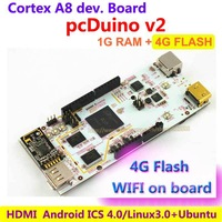 Cortex A8 Enhanced Raspberry PI  version pcDuino V2 with WIFI 1G RAM 4G Flash Development Board , HDMI  Android  Linux Ubuntu