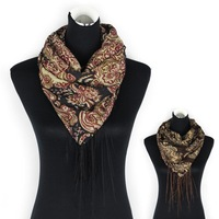 2014 Hot Sale Fashion Scarf Printed Porcelain Style Thin Section the  Women Scarf Long fringed scarves