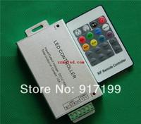 Aluminum Shell RGB LED RF LED Controller With RF Remote 20key For RGB LED Light Strip ,DC 12V /24V, Free Shipping