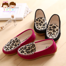 Hot-selling 2014 spring fashion leopard print bag child single shoes female child shoes(China (Mainland))