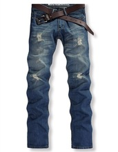 2014 fashion designer brand men jeans denim pants trousers free shipping(China (Mainland))