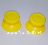 Free Shipping 100pcs Yellow thumbstick/analog stick/replace part/Thumb Joysticks for Sony Playstation 4 PS4(Yellow)
