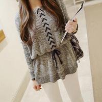 2014 spring women's skirt slim waist top brief loose pullover sweater