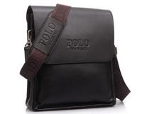 2014 New Arrival Messenger Shoulder Bags Men Videng POLO PU Leather Bag For Men Black