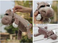 Super cute 1pc 25cm nici forest big eyes hippo plush school lovely pen bag pencil case toy children gift