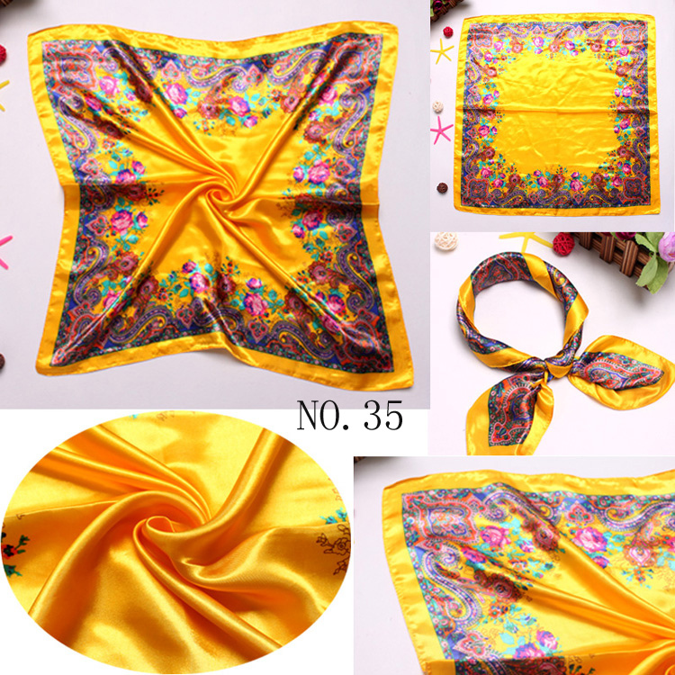 Luxurious Dubai Royal Series Printed 24''*24'' Working Hotel Silk Square Scarves C70035(China (Mainland))